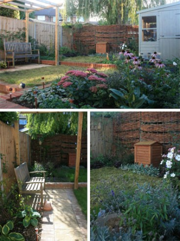 The garden has been transformed into an inviting space for humans & wildlife alike.