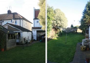 The virtually blank canvas existing garden