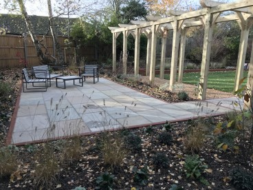 A generous patio for entertaining & catching the last of the sun