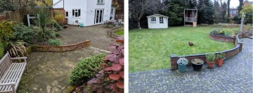 Irregular lines made the existing garden cluttered & uninviting